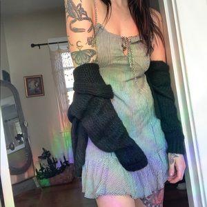 Dresses & Skirts - Striped Free People Ruffle tank mini